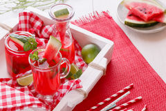 Watermelon cocktails Royalty Free Stock Photos