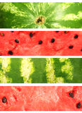 Watermelon. Collection of banners Stock Photography