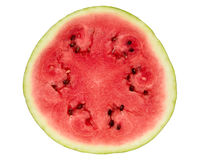 Watermelon cross section on white. Watermelon cross section on isolated  background Stock Image