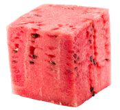 Watermelon cube isolated on a white background Stock Photography