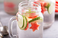 Watermelon and cucumber detox water Stock Photography
