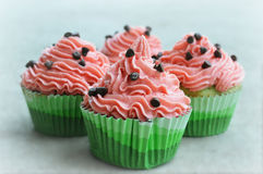 Watermelon Cupcakes Royalty Free Stock Photo