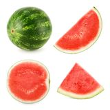 Watermelon cut in 4 different shapes Stock Image