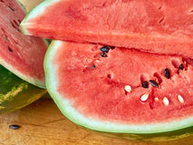 Watermelon cut into close-up Royalty Free Stock Photography