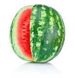 Watermelon with a cut isolated on white background Stock Images