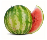 Watermelon with cute piece Stock Photo