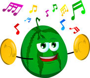 Watermelon with cymbals Stock Images