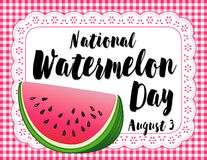 Watermelon Day Poster Stock Photos