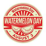 Watermelon Day rubber stamp. Watermelon Day, August 3, rubber stamp, vector Illustration Stock Photography