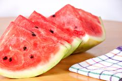 Watermelon delicious cut food dessert Stock Photography