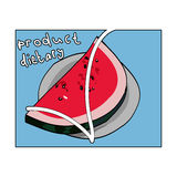 Watermelon diet product Stock Images