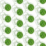 The watermelon and the drawn heart seamless pattern vector illustration