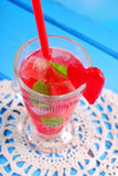 Watermelon drink with mint and ice Royalty Free Stock Photo