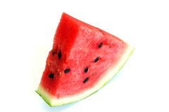 Watermelon with dry stem. Sweet sliced watermelon with dry stem cut food Stock Photos