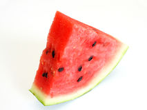 Watermelon with dry stem. Sweet sliced watermelon with dry stem cut food Stock Photography