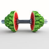 Watermelon_dumbbell Stock Photos
