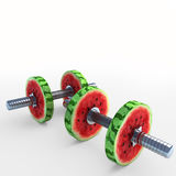 Watermelon_dumbbells Stock Images