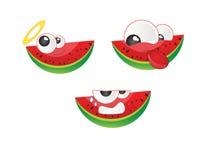 Watermelon emoticon Vector 2. Watermelon emoticon felling vector 2 Royalty Free Stock Photo