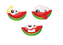 Watermelon emoticon Vector 2 Royalty Free Stock Photo