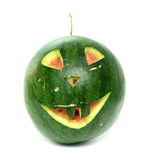 Watermelon face Stock Images