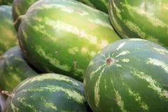 Watermelon on Farmers Market in Catania stock photo