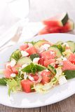 Watermelon,feta cheese and cucumber Stock Photography