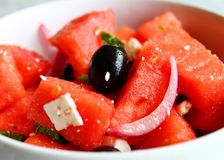 Watermelon Feta Salad stock images