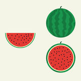 Watermelon flat vector. Watermelon in flat design Stock Images