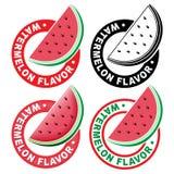 Watermelon Flavor Seal / Mark Stock Photos