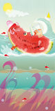 Watermelon Floating Stock Images