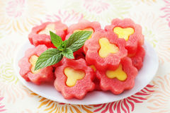 Watermelon flowers Stock Photo