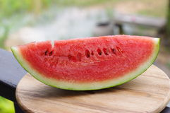 Through watermelon Stock Photography