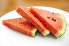 Watermelon with fork Royalty Free Stock Image