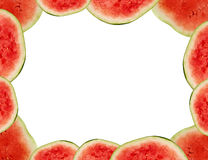 Watermelon frame Stock Photo