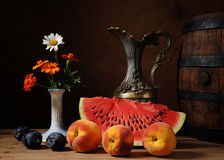 Watermelon and fresh fruit Stock Image