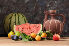 Watermelon and fresh fruit Stock Photography