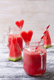 Watermelon fresh in glass jars Royalty Free Stock Images