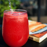 Watermelon. Fresh watermelon juice with a touch of sparkling water, the perfect fizzy evening drink Stock Image
