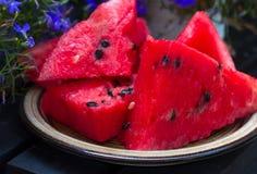 Watermelon. Fresh slices of watermelon Stock Image