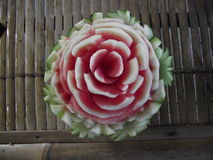 Watermelon Fruit Carving Stock Image