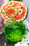 Watermelon   fruit carving. Royalty Free Stock Photos