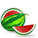 Watermelon with fruit slice Stock Photography