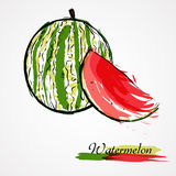 Watermelon fruit slice Stock Photo
