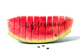 Watermelon fruit slice isolated on white Stock Photography