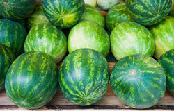 Watermelon on fruit stand Royalty Free Stock Image