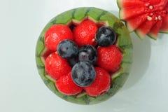 Watermelon fruit on white background stock photos