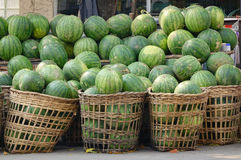 Watermelon fruits on street in Yangon, Myanmar Stock Photography
