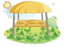 Watermelon garden illustration Royalty Free Stock Photos