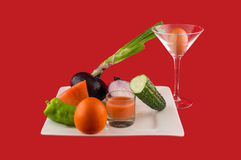 Watermelon Gazpacho. Refreshing and vegetables that have been made Stock Photography