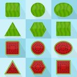 Watermelon geometric shape Royalty Free Stock Photos